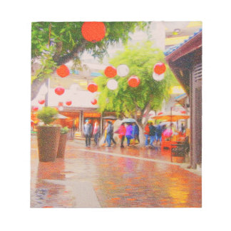 Little Tokyo Japanese village Painting Notepad