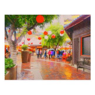 Little Tokyo Japanese village Painting Postcard