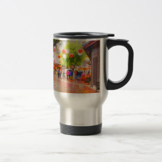 Little Tokyo Japanese village Painting Travel Mug