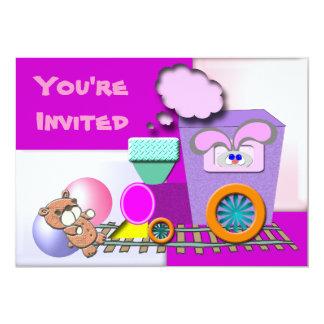 Little Tot Train Invitation