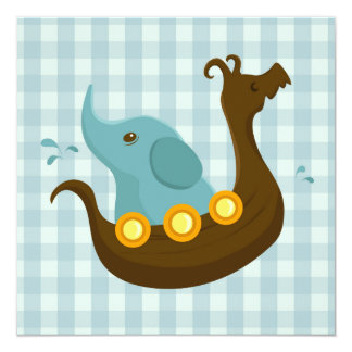 Little Travellers: Viking Elephant blue card