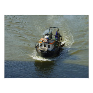 Little Trawler, Cardiff Bay Harbour Poster