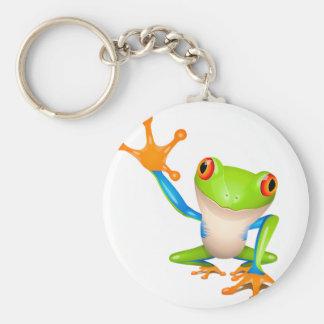 Little tree frog basic round button keychain