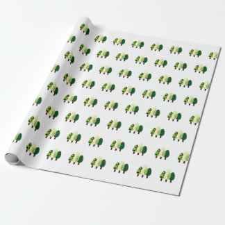 'Little Trees' Matte Wrapping Paper