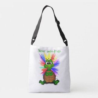Little Turtle , Never more drugs… Crossbody Bag