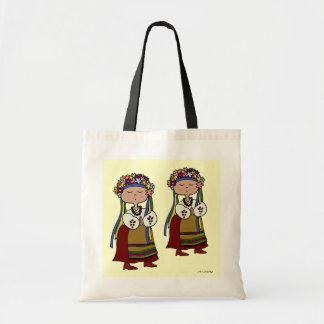 Little Ukrainian Dancer Ukrainian Folk Art Budget Tote Bag