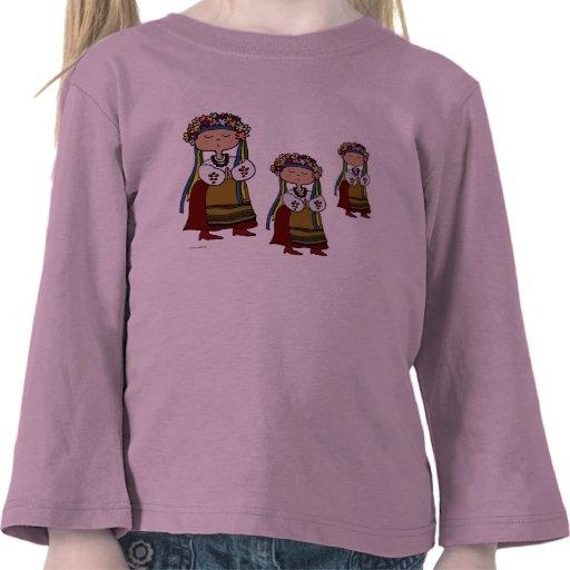 Little Ukrainian Dancer Ukrainian Folk Art T-shirts