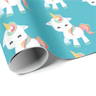 Little Unicorn tiled party wrap Wrapping Paper