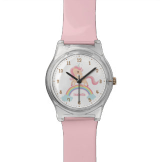 Little Unicorn with Star on Rainbow Girls Watch