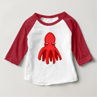little unsympathetic octopus cartoon style baby T-Shirt