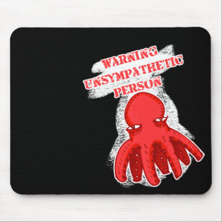 little unsympathetic octopus cartoon style mouse pad