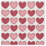 Little Valentine hearts fabric