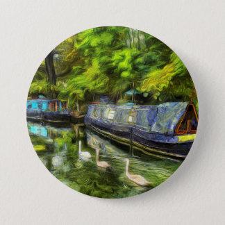Little Venice London Van Gogh 3 Inch Round Button