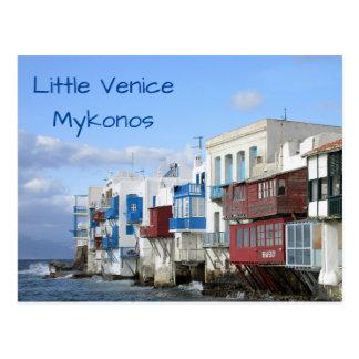 Little Venice, Mykonos close up Postcard