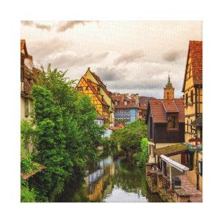 Little Venice, petite Venise, in Colmar, France Canvas Print