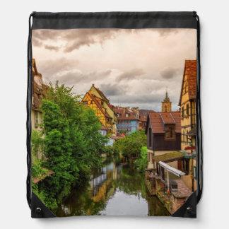 Little Venice, petite Venise, in Colmar, France Drawstring Bag