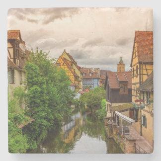 Little Venice, petite Venise, in Colmar, France Stone Coaster