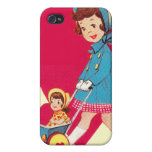 Little Vintage Girl Case For iPhone 4