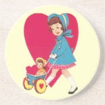 Little Vintage Girl Drink Coasters