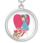 Little Vintage Girl Personalized Necklace