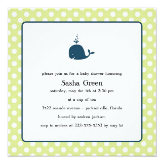 Little Whale Baby Shower Invitation