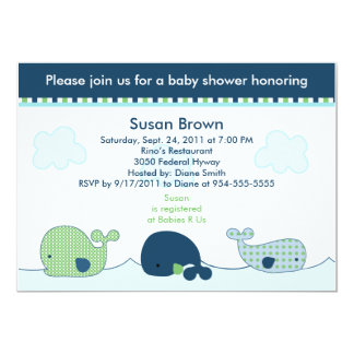 Little Whales Baby Shower Invitation