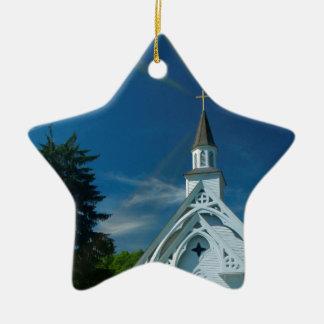Little White Church Christmas Ornaments