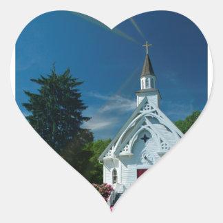 Little White Church Sticker