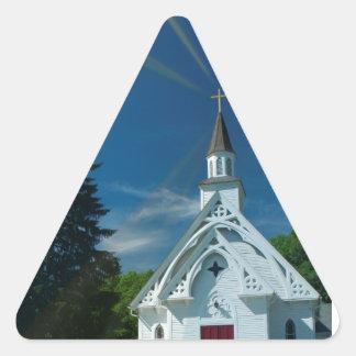 Little White Church Triangle Stickers