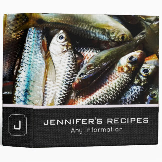 Little White Fish Recipes Vinyl Binders