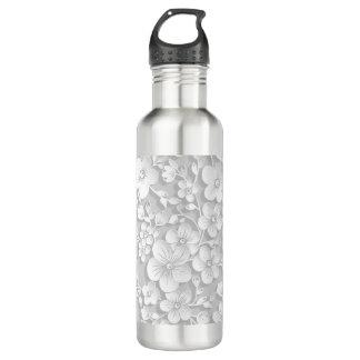Little White Flowers 710 Ml Water Bottle