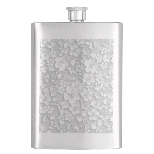 Little White Flowers Flasks