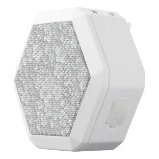 Little White Flowers White Bluetooth Speaker
