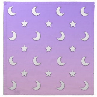 Little White Stars and Moons Pattern Napkin