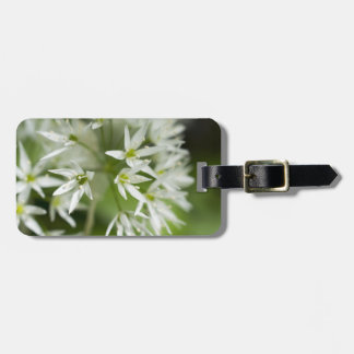 Little White Stars Floral Personalized Luggage Tag