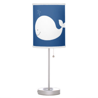 Little White Whale Nursery Lamp