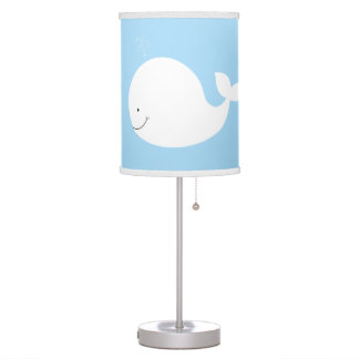 Little White Whale Nursery Lamp (Light Blue)