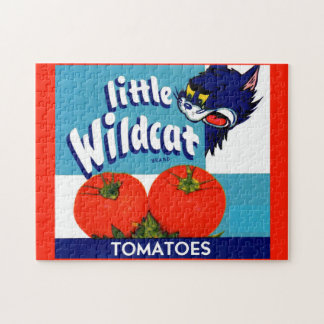 Little Wildcat tomatoes crate label Jigsaw Puzzle