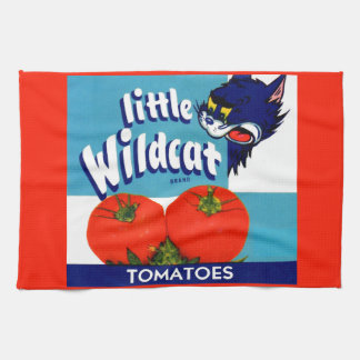 Little Wildcat tomatoes crate label Kitchen Towel