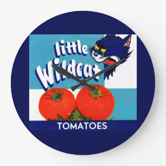 Little Wildcat tomatoes crate label Large Clock