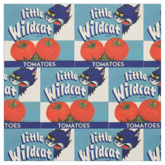 Little Wildcat tomatoes crate label print Fabric