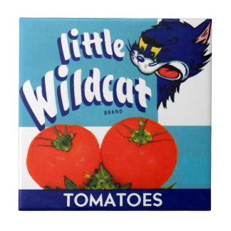 Little Wildcat tomatoes crate label Tile