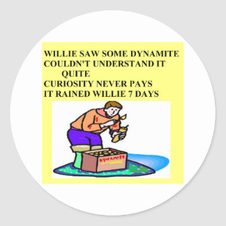 little willie rhyme classic round sticker