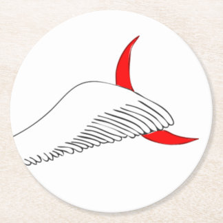Little Wing Round Paper Coaster