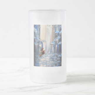 Little witch frosted glass beer mug