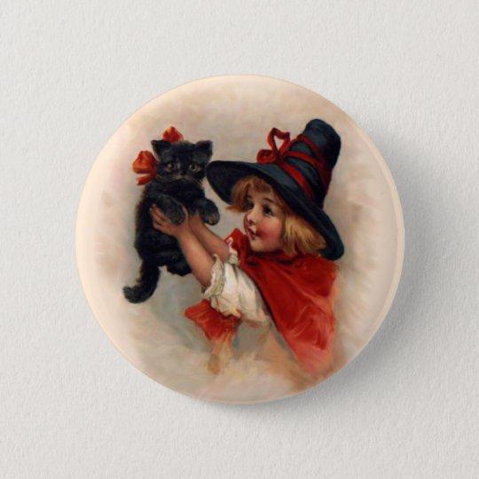 Little Witch Girl 2 Inch Round Button