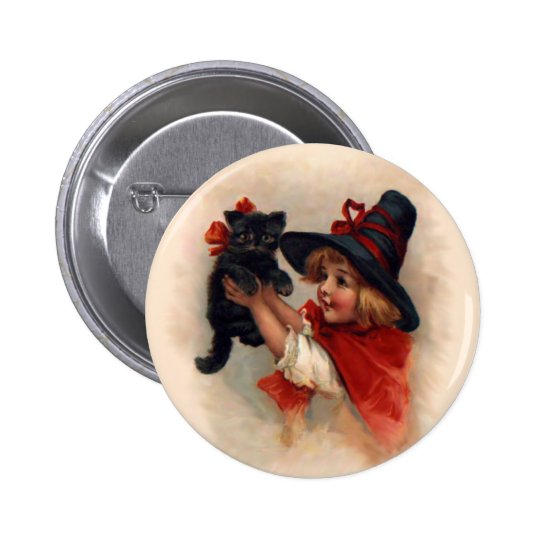 Little Witch Girl 2 Inch Round Button