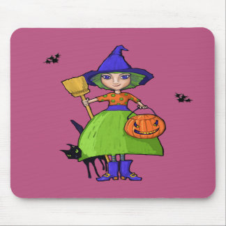 Little Witch plum Mousepad
