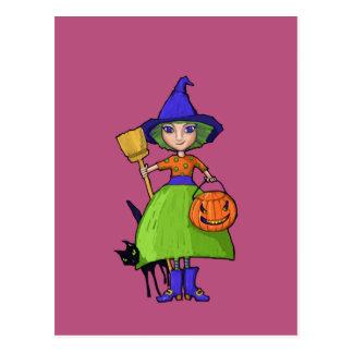 Little Witch plum Postcard