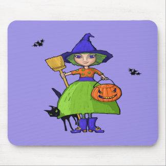 Little Witch purple Mousepad